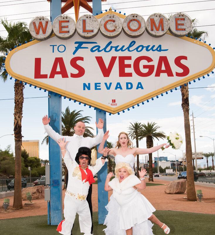 Dimos Las Vegas sign wedding 4