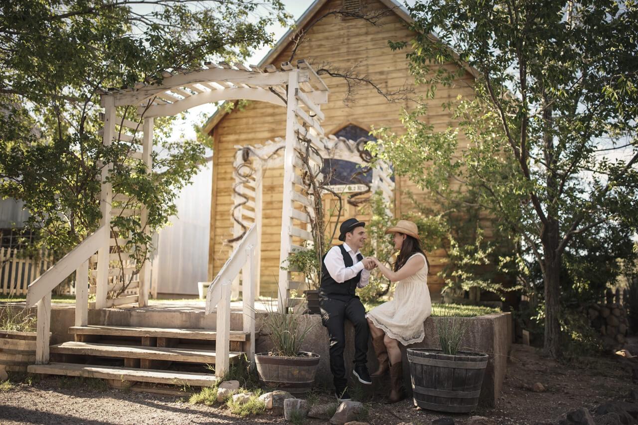 Bonnie Springs Western Chapel Wedding Click To