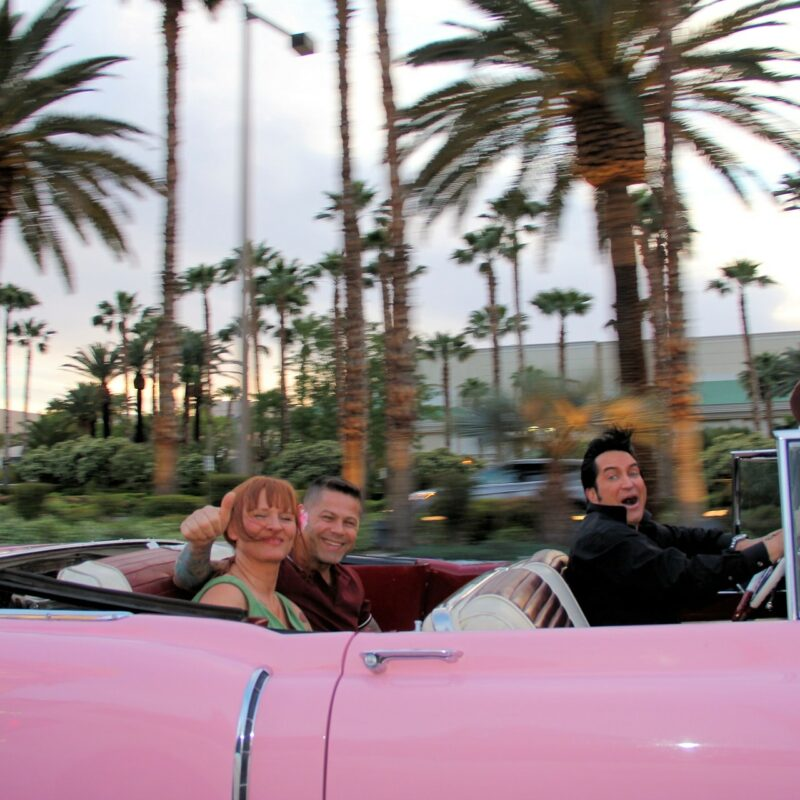 Pink Cadillac and Elvis Airport Pickup