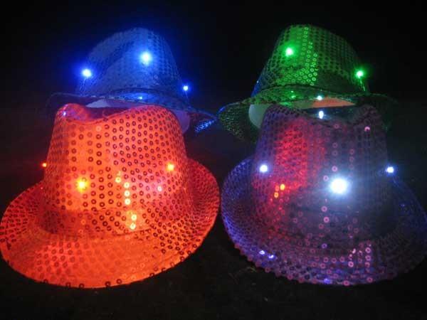 Flashing Fedora Hats