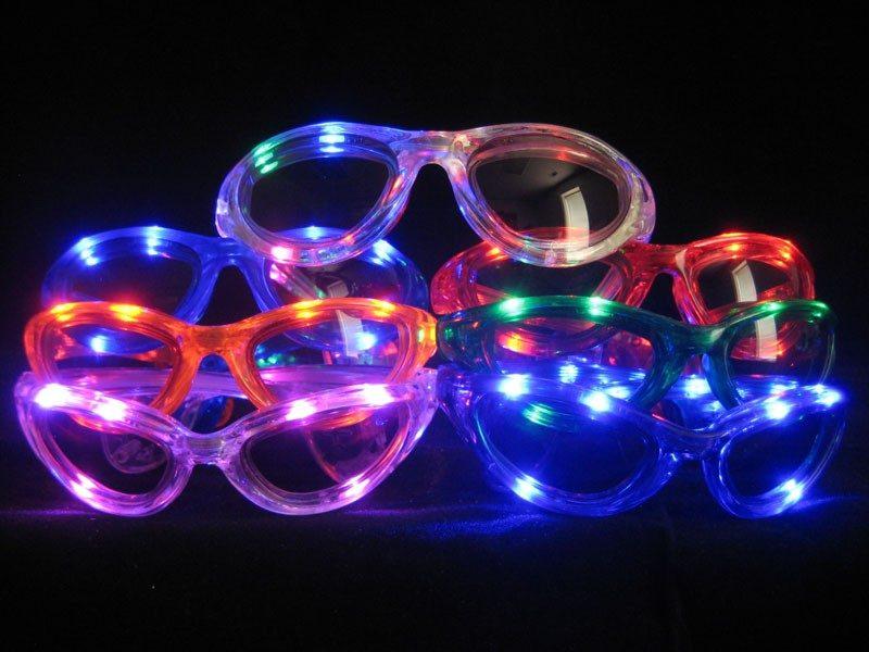 Flashing LED Sunglasses